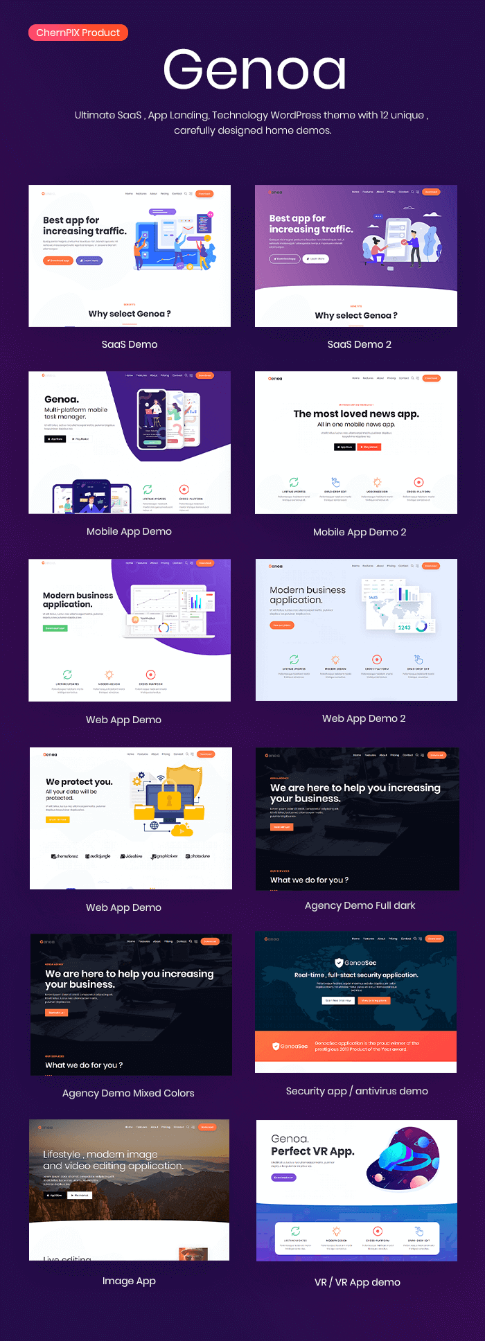 Genoa - SaaS & App landing WordPress theme - 2