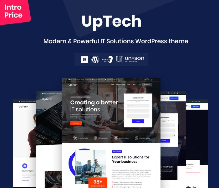 Uptech - IT Solutions WordPress theme - 2